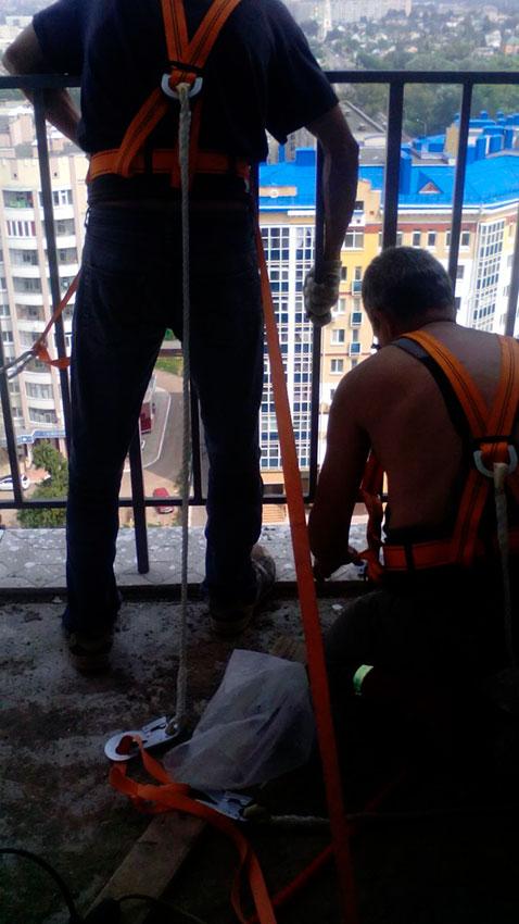 Забор сварной на балкон - процесс работы - фото №3