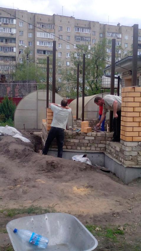 Процесс строительства веранды - этап №18 фото