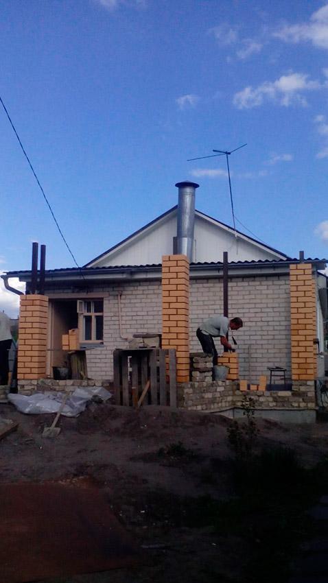 Процесс строительства веранды - этап №19 фото