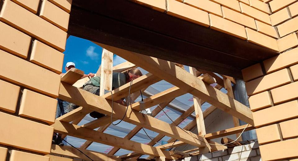 Процесс строительства веранды - этап №2 фото
