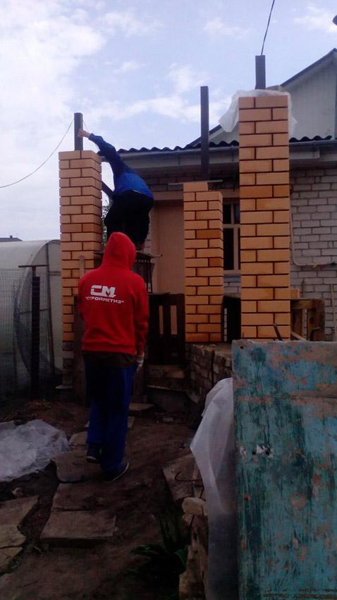 Процесс строительства веранды - этап №20 фото