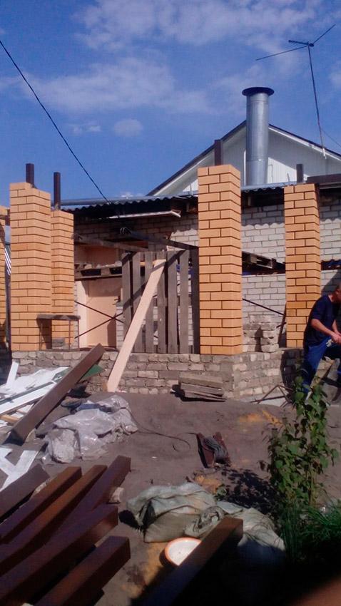 Процесс строительства веранды - этап №21 фото