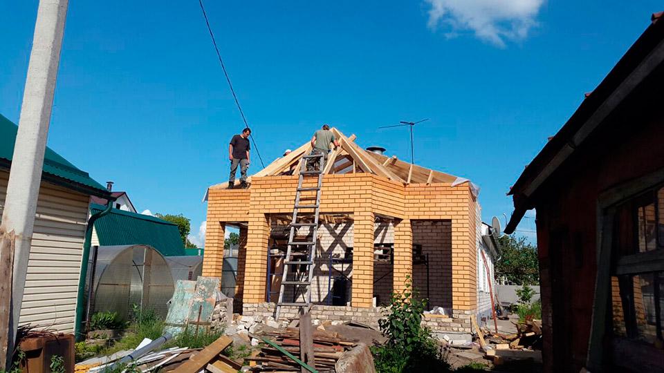 Процесс строительства веранды - этап №6 фото