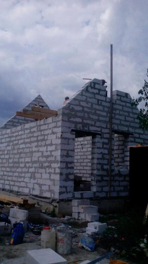 Строительство дачного дома - фото №1